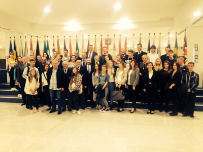 Winners of the competitions from Pomorskie on the study visit to the European Parliament