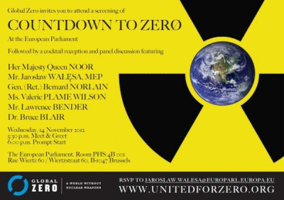 Countdown to Zero - invitation to a screening
