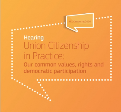 EU CITIZENSHIP IN PRACTICE :our common values, rights and democratic participation.